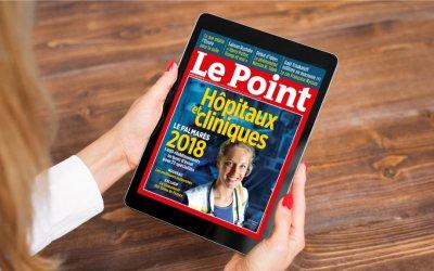 Palmarès des hôpitaux et cliniques 2018 par le magazine Le Point.